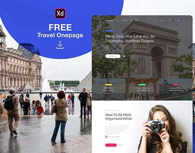 Travel Onepage Design