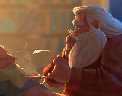 Working nights - Character Illustration