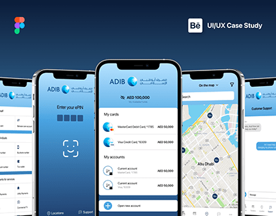 ADIB Banking Mobile App Redesign - UI/UX Case Study