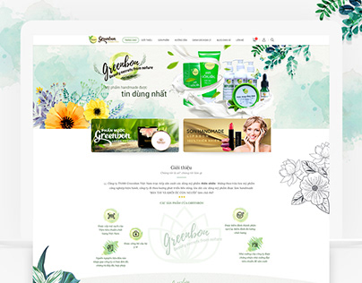 Cosmetic website design Greenbon