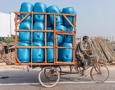 Bike Riders of Dhaka, Bangladesh