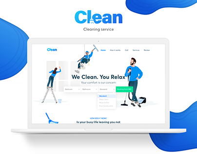 "Website for cleaning service ""Clean"""