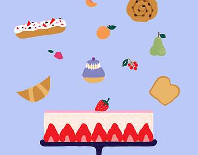 Illustrations and infographics for La Patisserie