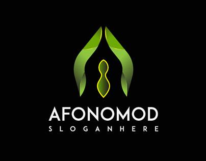 Letter A modern logo design