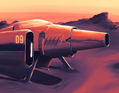 Retro futuristic aircraft