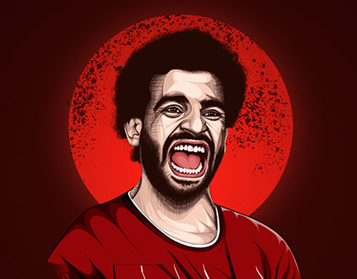 mo salah vector art