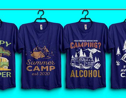 CAMP T-shirt Design Bundle.