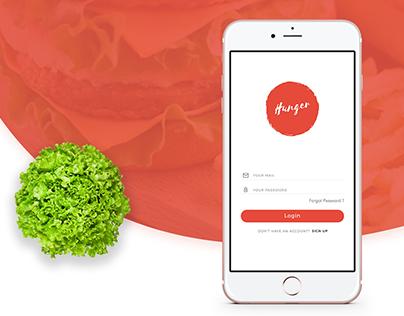 Hunger - Food Delivery App UI/UX Design