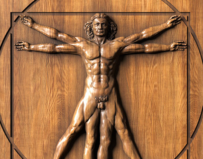 "Bas-relief ""Vitruvian man"""