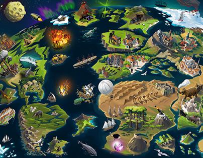 Jules Verne map