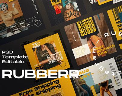 RUBBBER - Social Media Template