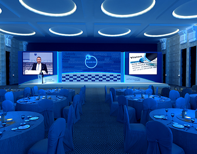 ADIB CEO Global Vision Event 2014 Stage Design
