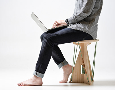 Connected stool.