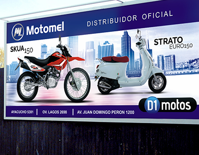 D1 Motos - Campaña Gráfica, Anuncios de revista y más.