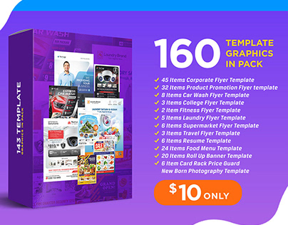 160 Template Graphic in pack for you!! Download Now