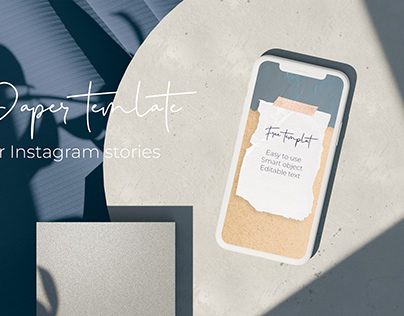 Paper Free Instagram Template