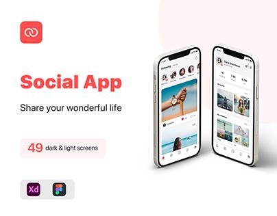 Social App iOS UI Kit