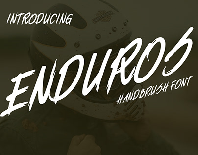 ENDUROS - Handbrush font