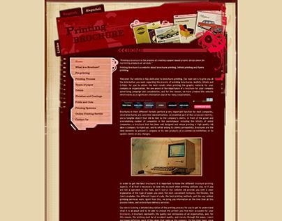 Brochure Design & Print Website