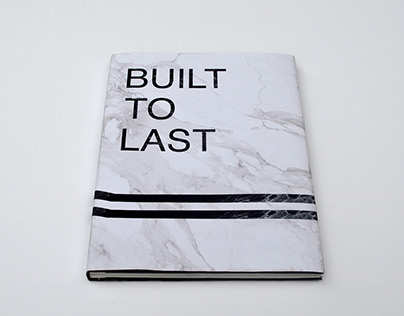 Built to last. Hand bound book.