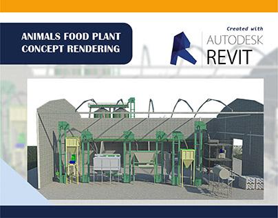 Animals Food Plant Concept Rendering