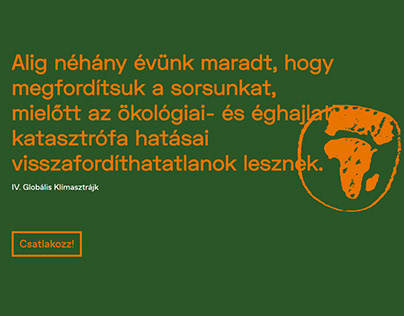 A onepage site for a Climate-awarness movement.