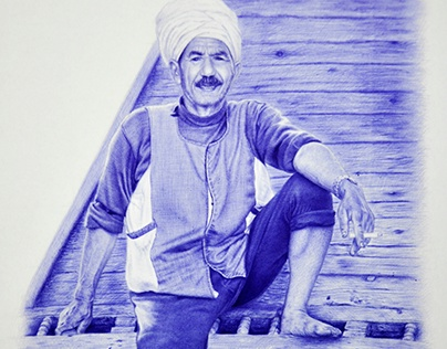 Farmer With Ballpoint Pen