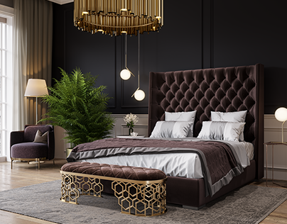 Bedroom. 3D Visualization