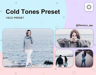 Cold Tones - VSCO Preset - Filteresco app