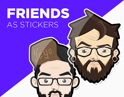 FRIENDS as stickers