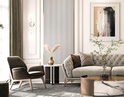 neoclassic reception design