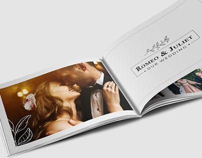Wedding Photo Album Horizontal Brochure Template
