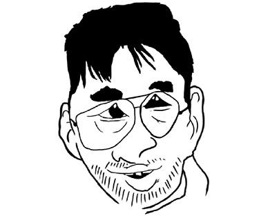 Caricature du vidéaste Joueur du Grenier