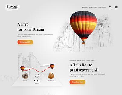 Luxoon - UX/UI Web Design Concept