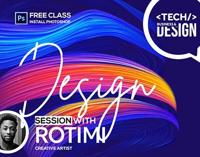 Flyer design for Tech, Business & Design Conference