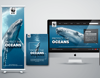 WWF Website, poster and bunting design - practice