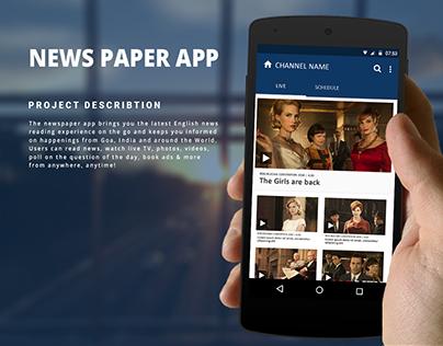 Newspaper App Design