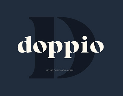 Tipografía Doppio