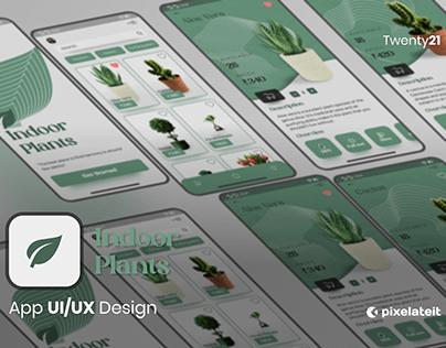 Indoor Plants App   UI/UX Design