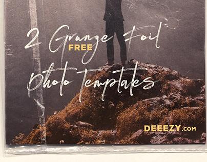 2 Free Grunge Foil Photo Mockups