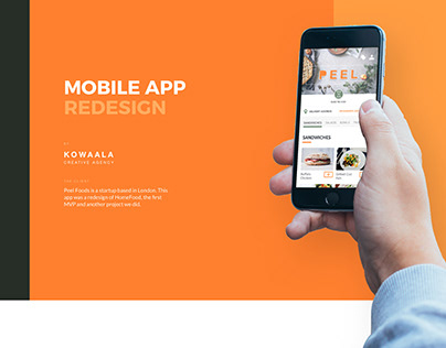 Peel Foods, Mobile App Redesign (of HomeFood)