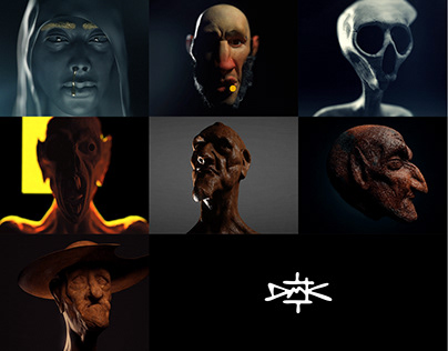 Little 3d animated faces
