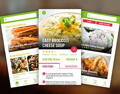UI/UX for Diet Recipe App