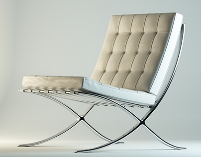 Barcellona Chair Modelling & texturing