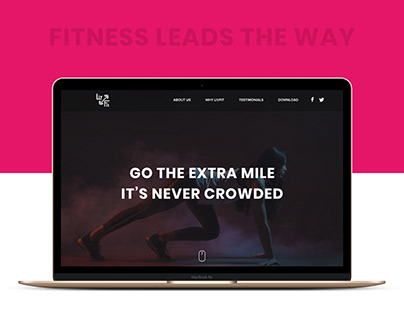 Website : Marketing Page for Livfit app