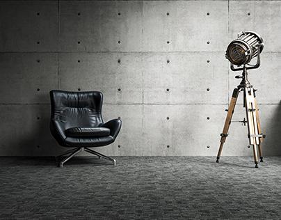 3D CGI Minimal Interior Render