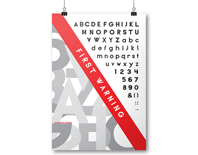 First Warning Typeface