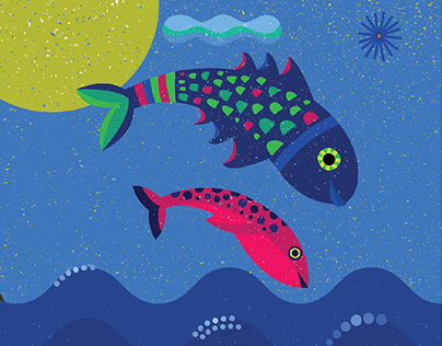 Illustrations for a book: Why do fishes live in water?
