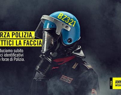 AMNESTY - Forza polizia, mettici la faccia.