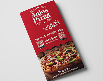 Anjos Della Pizza - Cardápio, Banner & Posts Facebook